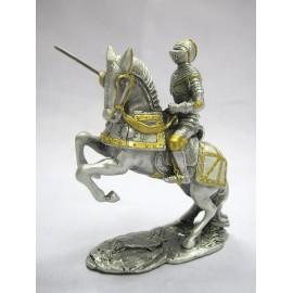 Cynowy rycerz na koniu