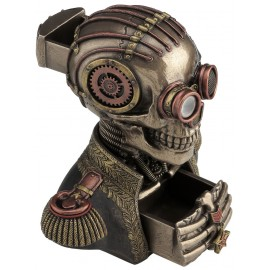 Steampunk trinket box - skull