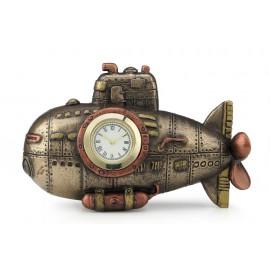 Steampunk łódź podwodna zegar