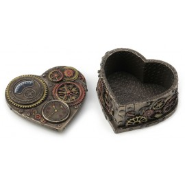 Steampunk heartshape box