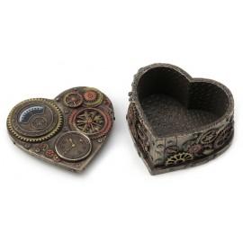 Steampunk szkatułka serce