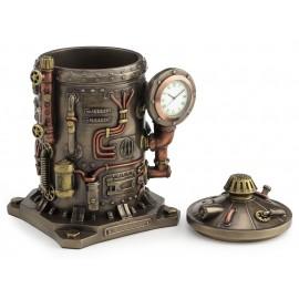 Steampunk tajemnicza maszyna z zegarem - schowek