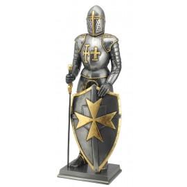 Rycerz - Krzyżowiec z mieczem i tarczą
