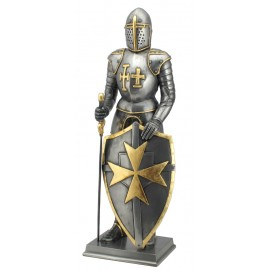 Medieval knight - a crusader - silver