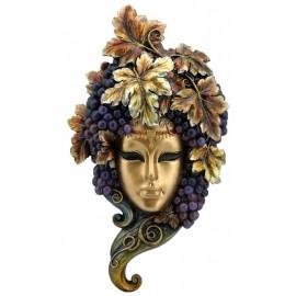 Maska z winoroślą