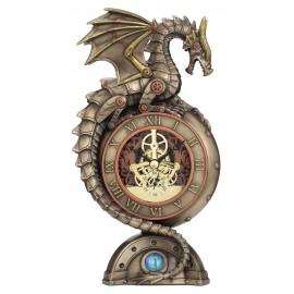 Steampunk zegar ze smokiem