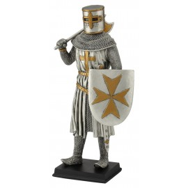 Knight with an ax and a shield