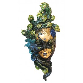 Venetian mask peacock color