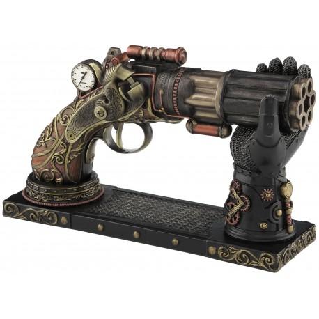 Sześcio Strzałowy Pistolet Bębenkowy Steampunk
