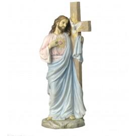 Jezus ze Świętym Sercem Opartym na Krzyżu