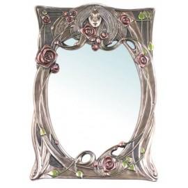Secesyjne lustro Lady z różami