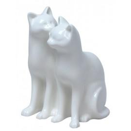 Porcelanowa para kotów