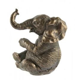 Słonik w brązie siedzący 1