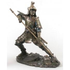 Samuraj duży z włócznią