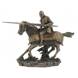 Medieval warrior on a horse