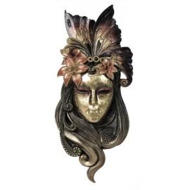 Maska wenecka lilia