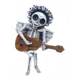 Szkielet z gitarą - zawieszka
