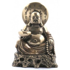 Buddah sitting on a rock