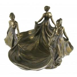 Secesyjna patera trzy Lady