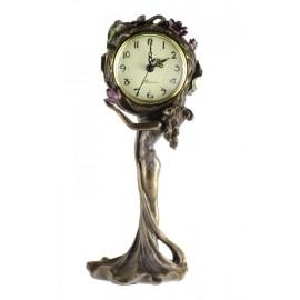 Secesyjny zegar z kobietą