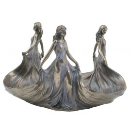 Secesyjna patera - trzy Lady