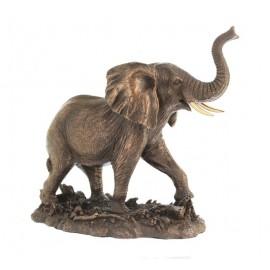Słoń afrykański w brązie duży