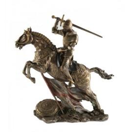 Rycerz na koniu w wyskoku