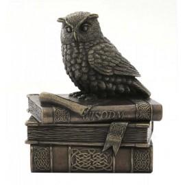 Sowa na książkach - szkatułka