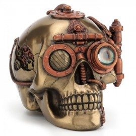 Czaszka - szkatuła Steampunk