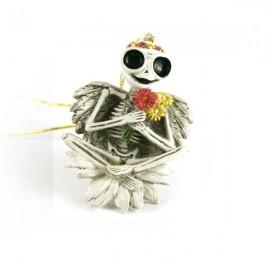 Szkielet z kwiatami - zawieszka