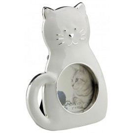 Picture frame with cat white