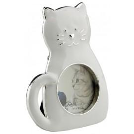 Ramka z kotem biała