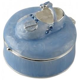 Szkatułka z bucikiem niebieska