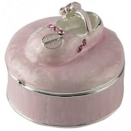 Szkatułka z bucikiem różowa