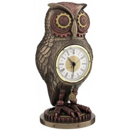 Steampunk - zegar z sową