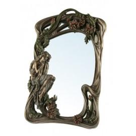Art Nouvau mirror with a lady