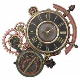 Astrolable wall clock Steampunk