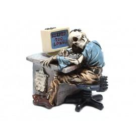 Szkielet przed komputerem